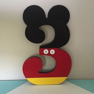 numeros decorados para fiestas para niño