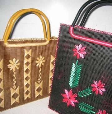 bolsas de rafia hechas a mano para mujeres