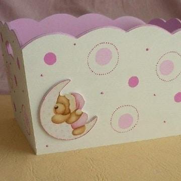 cajas de madera decoradas para bebes diseños