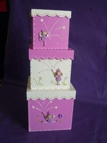 cajas de madera pintadas vintage ideas