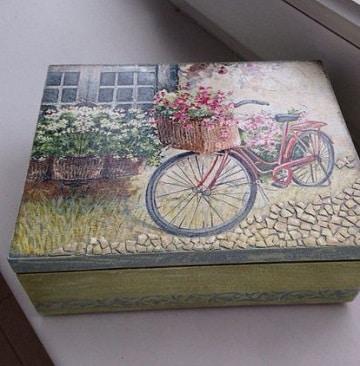cajas de madera pintadas vintage pintada a mano