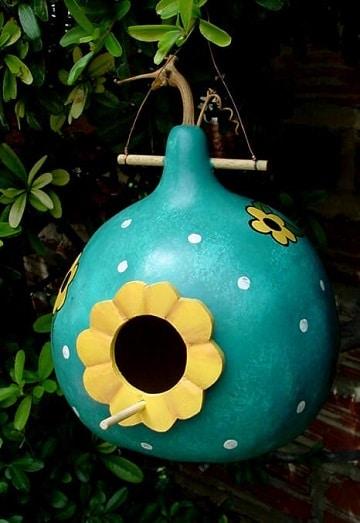 calabazas pintadas a mano para el jardin