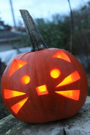cara de calabazas para halloween divertida