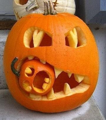 cara de calabazas para halloween escalofriante