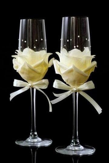 como decorar copas de cristal elegantes