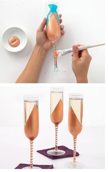 como decorar copas de cristal para graduacion