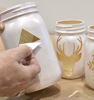 como decorar frascos de compota navidad