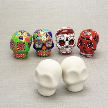como decorar una calavera de unicel ideas