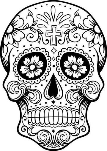 como dibujar una calavera mexicana diseños