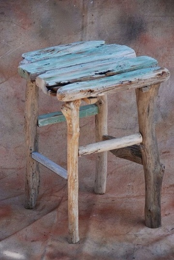 como hacer muebles rusticos banquito