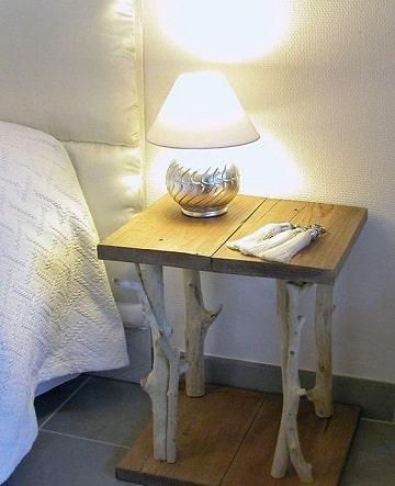 como hacer muebles rusticos mesa de noche