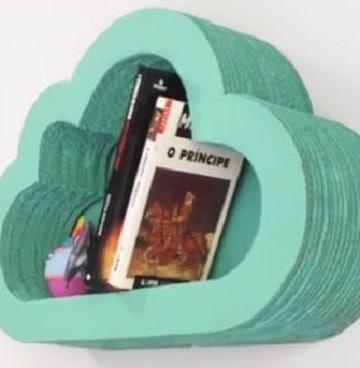 como hacer un librero de carton para niñas