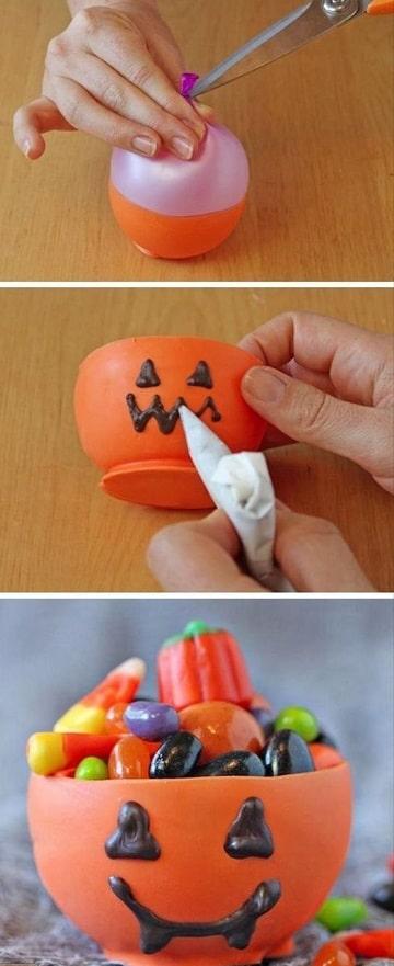 como hacer una calabaza con un globo paso a paso