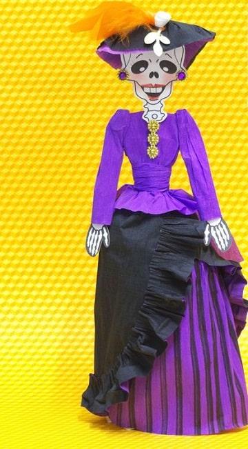 Ideas Sobre Como Vestir Una Catrina De Papel En Pocos Pasos