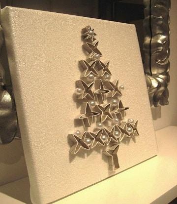cuadros con rollos de papel navidad