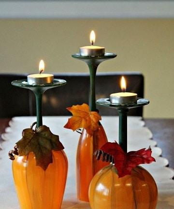 decoracion de accion de gracias centro de mesa