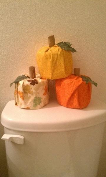decoracion de accion de gracias para el baño