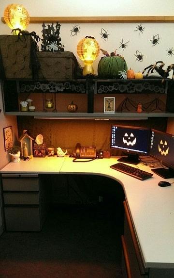 decoracion de halloween para oficina lindas