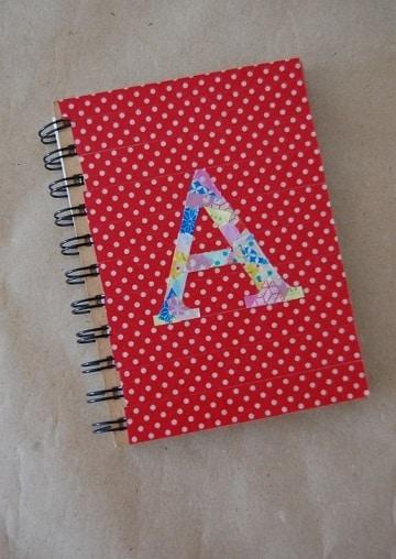 decoraciones para portadas de cuadernos con cintas
