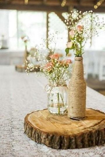 decorar botes de cristal vintage centro de mesa