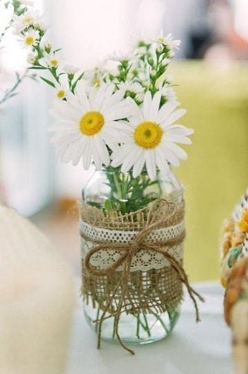 decorar botes de cristalvintage florero