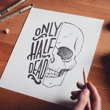 dibujos de dia de muertos faciles ideas