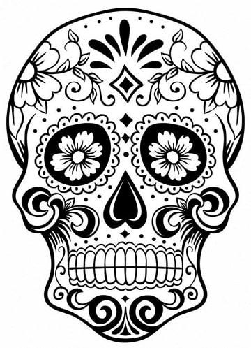 dibujos de dia de muertos faciles mandala