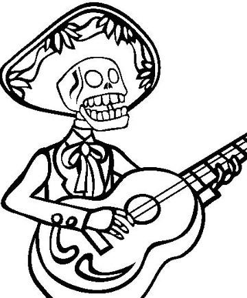 dibujos de dia de muertos faciles para decoracion