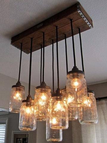 ideas con frascos de mermelada lamparas