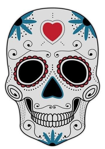mascaras de calaveras para imprimir colores