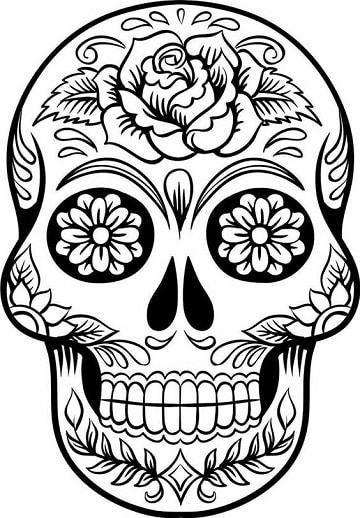 mascaras de calaveras para imprimir dia de muertos