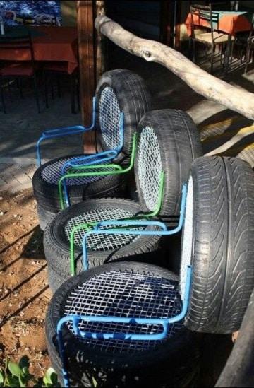 muebles con llantas recicladas ideas