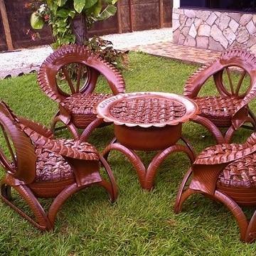 muebles con llantas recicladas para el jardin