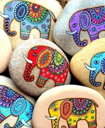 piedras pintadas de animales originales