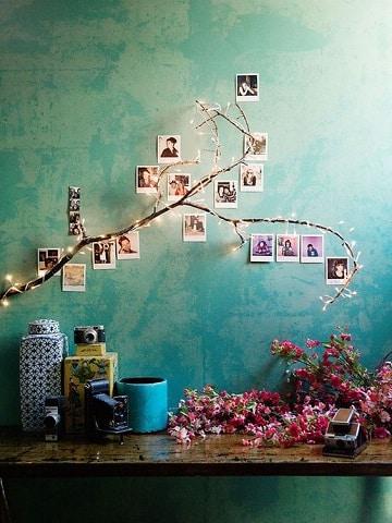 ramas de arboles para decorar paredes con fotos
