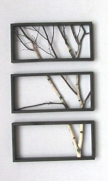 ramas de arboles para decorar paredes con marcos
