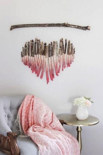ramas de arboles para decorar paredes para casados