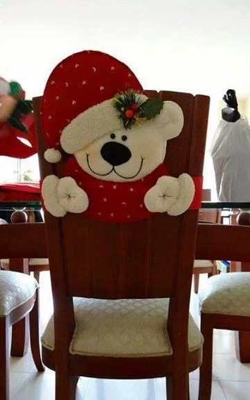 sillas decoradas para navidad osos