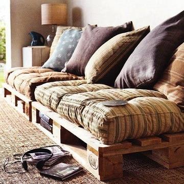 sillones de tarimas de madera para casas de playa