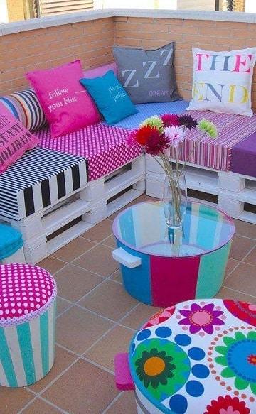 sillones de tarimas de madera para niña