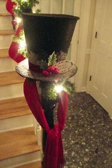 sombreros navideños creativos de carton