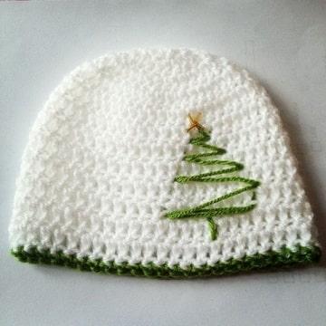 sombreros navideños creativos de crochet