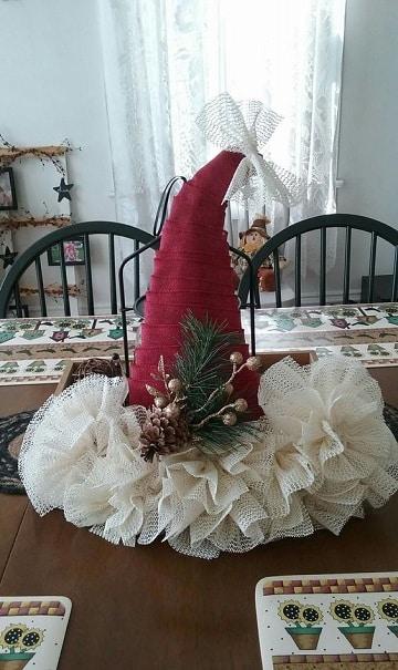 sombreros navideños creativos para centro de mesa