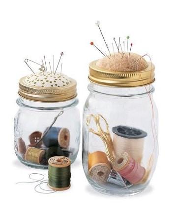 adornos con frascos de vidrio para interiores