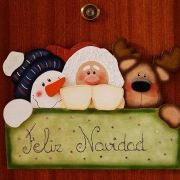 adornos de navidad en foami para puertas con letra