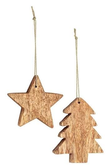 adornos navideños de madera para el arbol