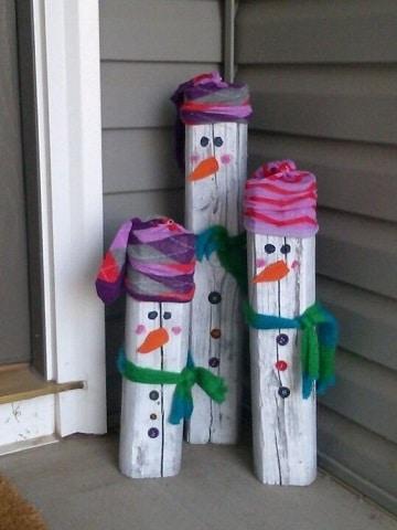 adornos navideños de madera para exteriores