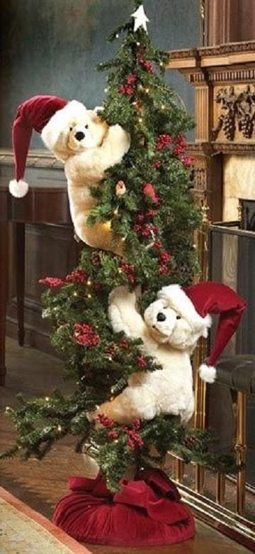 arbol de navidad con peluches creativos