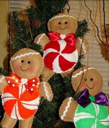 arbol de navidad con peluches de galletitas