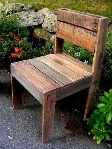 bancas de madera reciclada faciles